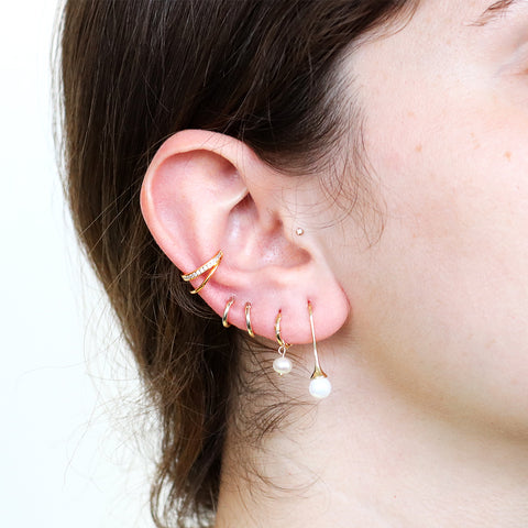 MARGO DOUBLE LOOP CONCH GOLD PLATED EAR CUFF