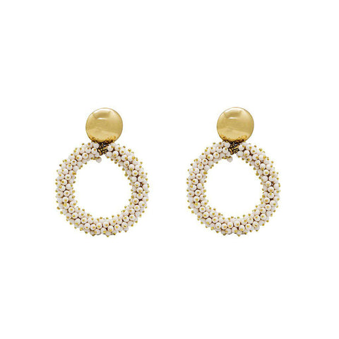 INEMA WHITE GOLD EARRINGS