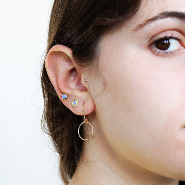 ROSIE NATURAL OPAL GOLD FILLED FLOWER STUDS