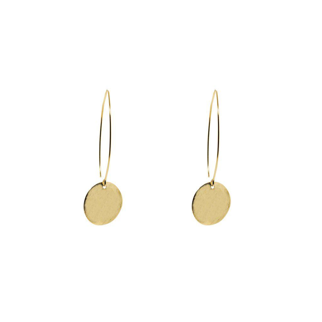 LIRON DISC SMALL 2 MICRON GOLD EARRINGS