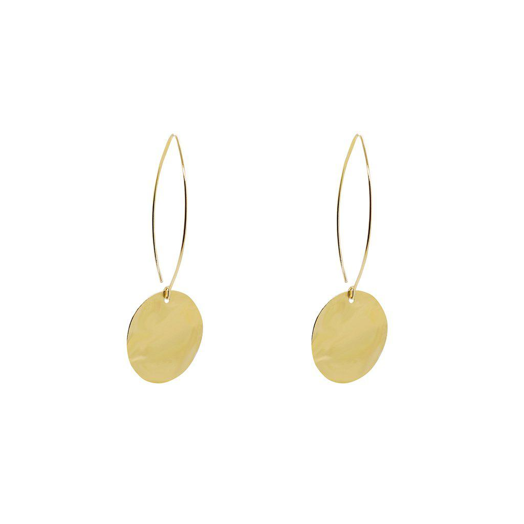 LIRON DISC LARGE 2 MICRON GOLD EARRINGS