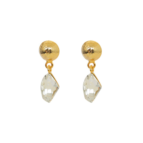 VERKA CLEAR CRYSTAL DROP EARRINGS