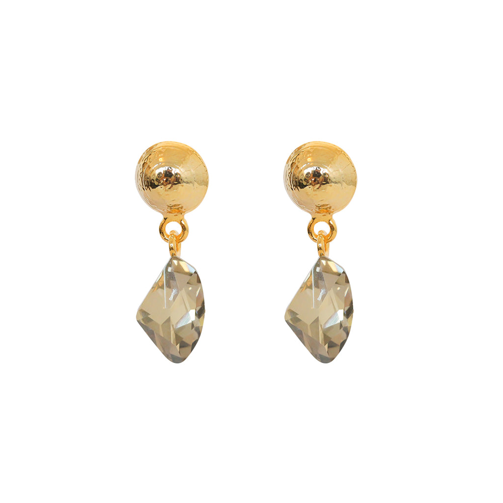 VERKA GREY CRYSTAL DROP EARRINGS