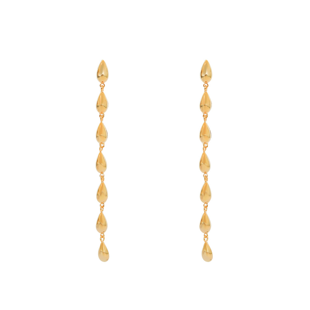 LUNA LONG DROP GOLD EARRINGS