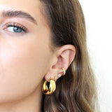 NADA 1 MICRON GOLD HOOP EARRINGS