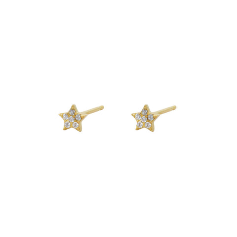 STAR MINI CRYSTAL GOLD STUDS