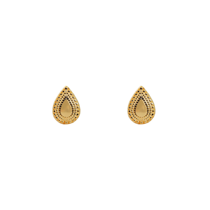 TEARDROP STERLING SILVER GOLD PLATED STUDS