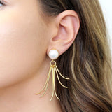 Oilli Semi Precious Gold Earrings