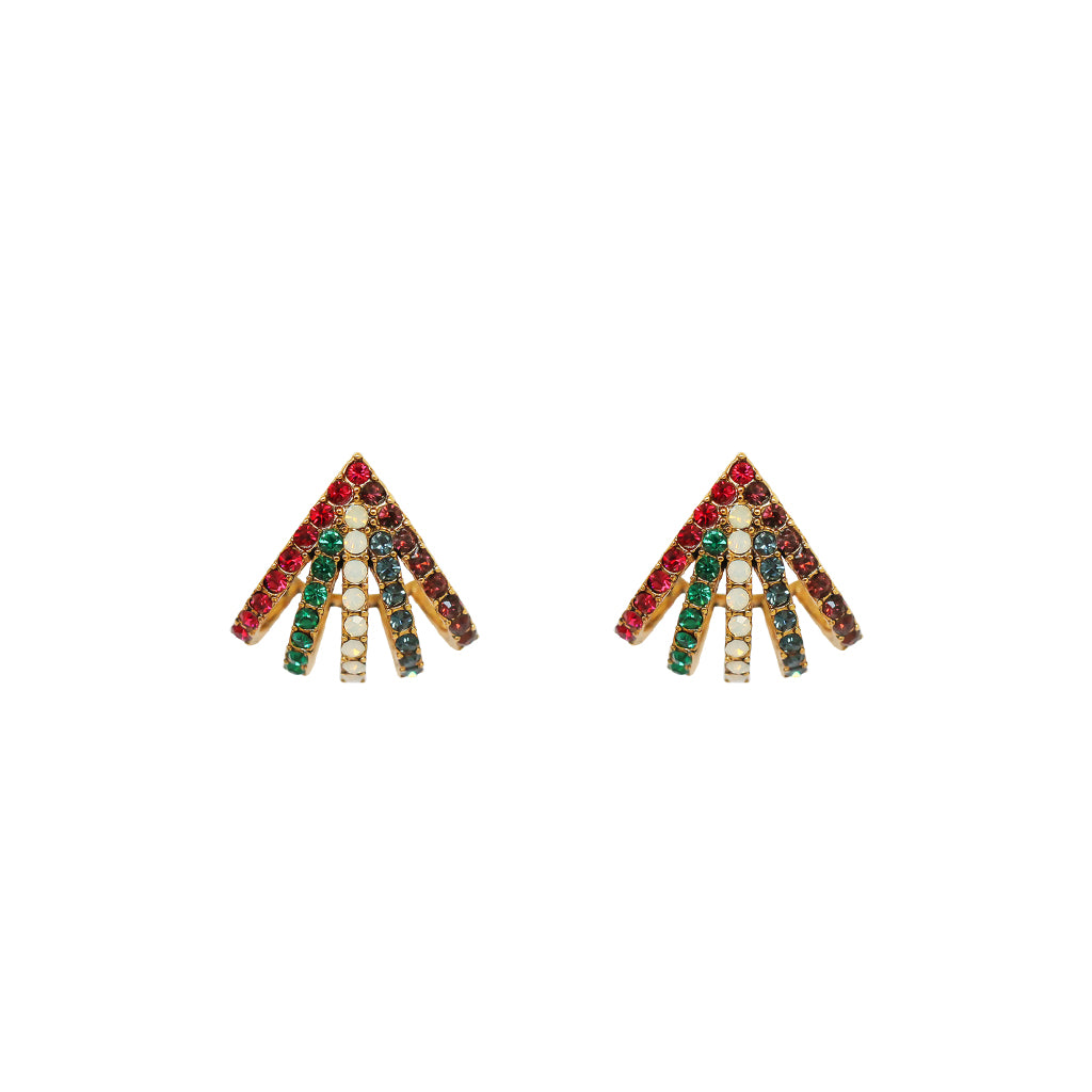 TAINI MULTI-COLOUR ANTIQUE GOLD EARRINGS