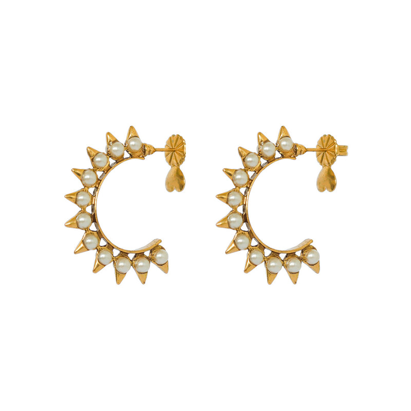 LUANNA ANTIQUE GOLD EARRINGS