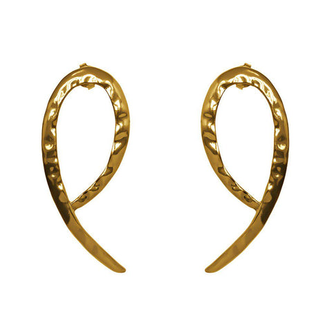 ALINE GOLD BEATEN EARRINGS