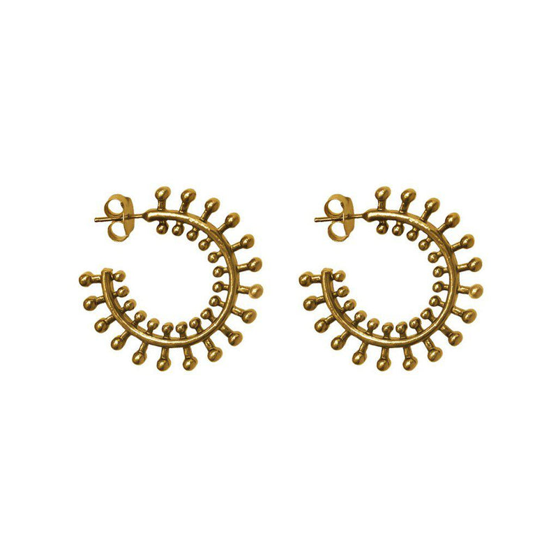 ELODIE ANTIQUE GOLD HOOPS