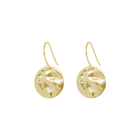 PERSYS GOLD FILLED DISC DROP EARRINGS