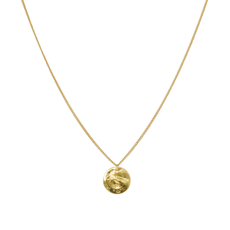 PERSYS GOLD FILLED DISC DROP PENDANT