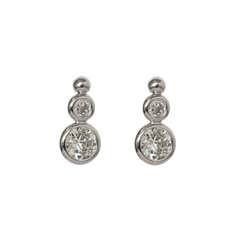 MYSIE THREE DROP CRYSTAL STUDS