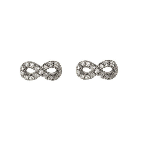 INFINITY CRYSTAL STUD EARRINGS