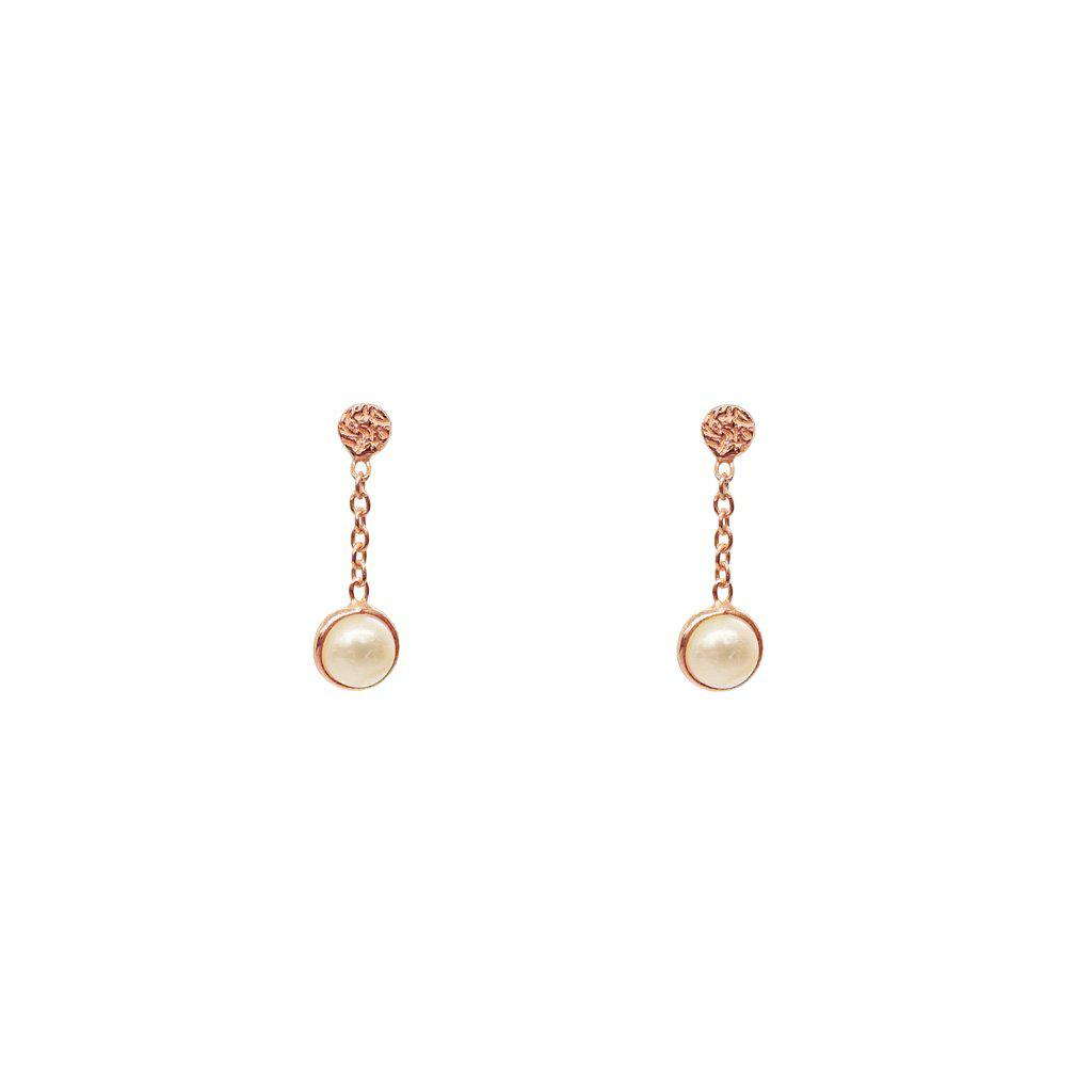 IMELDA FRESHWATER PEARL SEMI PRECIOUS STONE EARRINGS