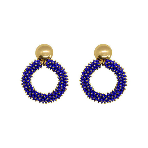 INEMA BLUE GOLD EARRINGS