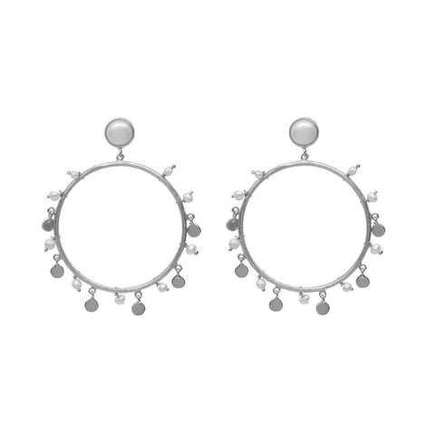 IRMA 2 MICRON GOLD FRESHWATER PEARL ROUND DROP EARRINGS
