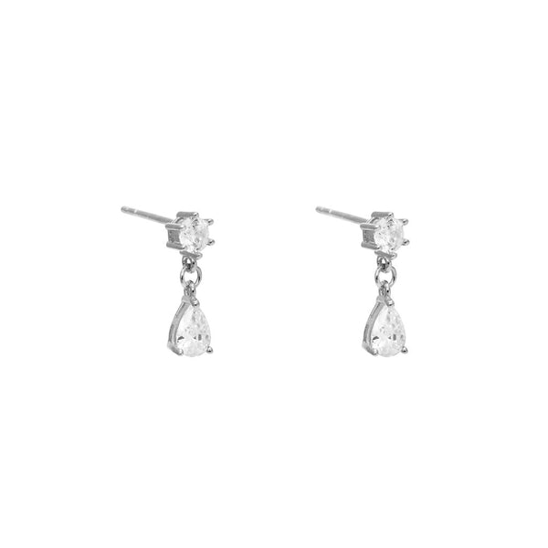 Cassius Tear Drop Crystal Studs