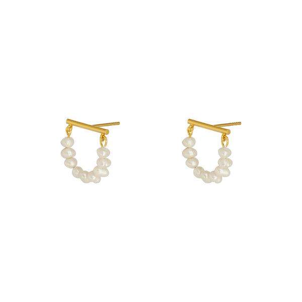 BLAIR FRESHWATER PEARL GOLD EARRINGS