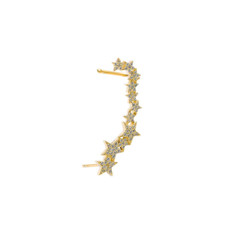 Star crawler cuff earring