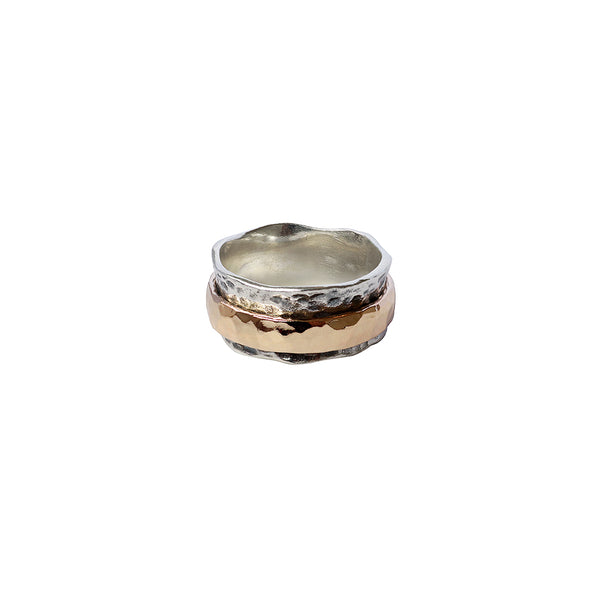 JAFARI STERLING SILVER GOLD FILLED RING