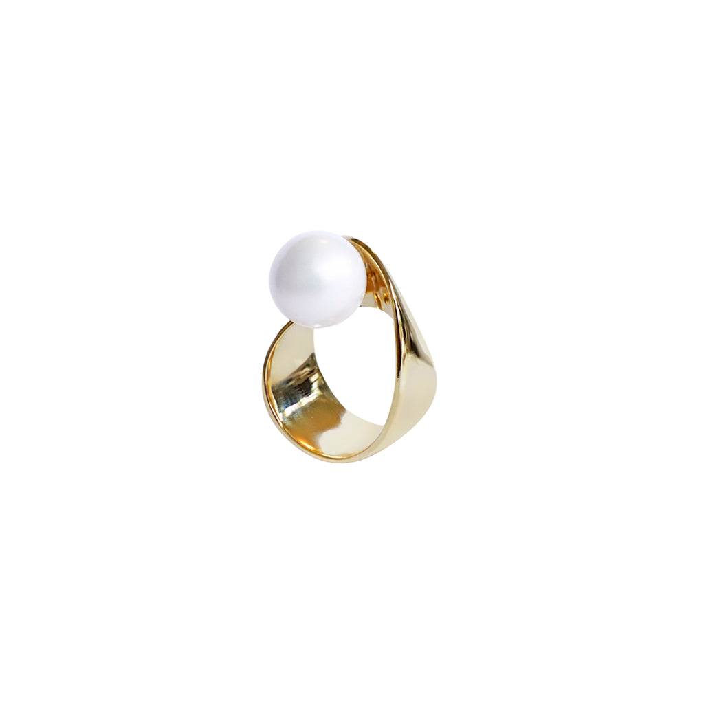 JOSEY GOLD PEARL THICK RING