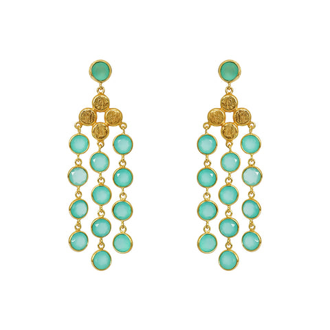 JULIANA CHALCEDONY 2 MICRON GOLD EARRINGS
