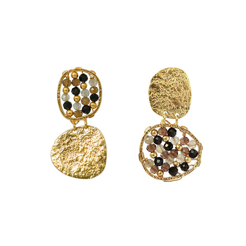KAMRYN 2 MICRON GOLD SEMI PRECIOUS EARRINGS