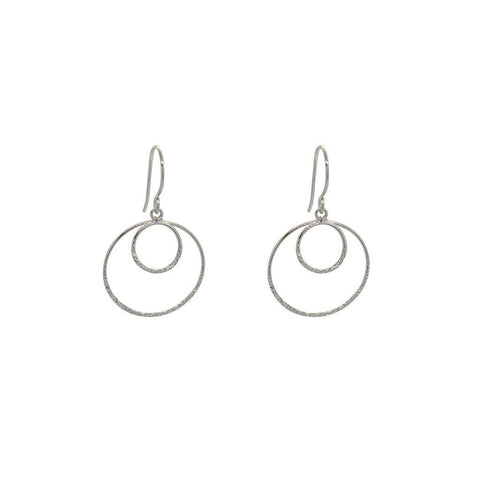 KENDI STERLING SILVER ROUND EARRINGS