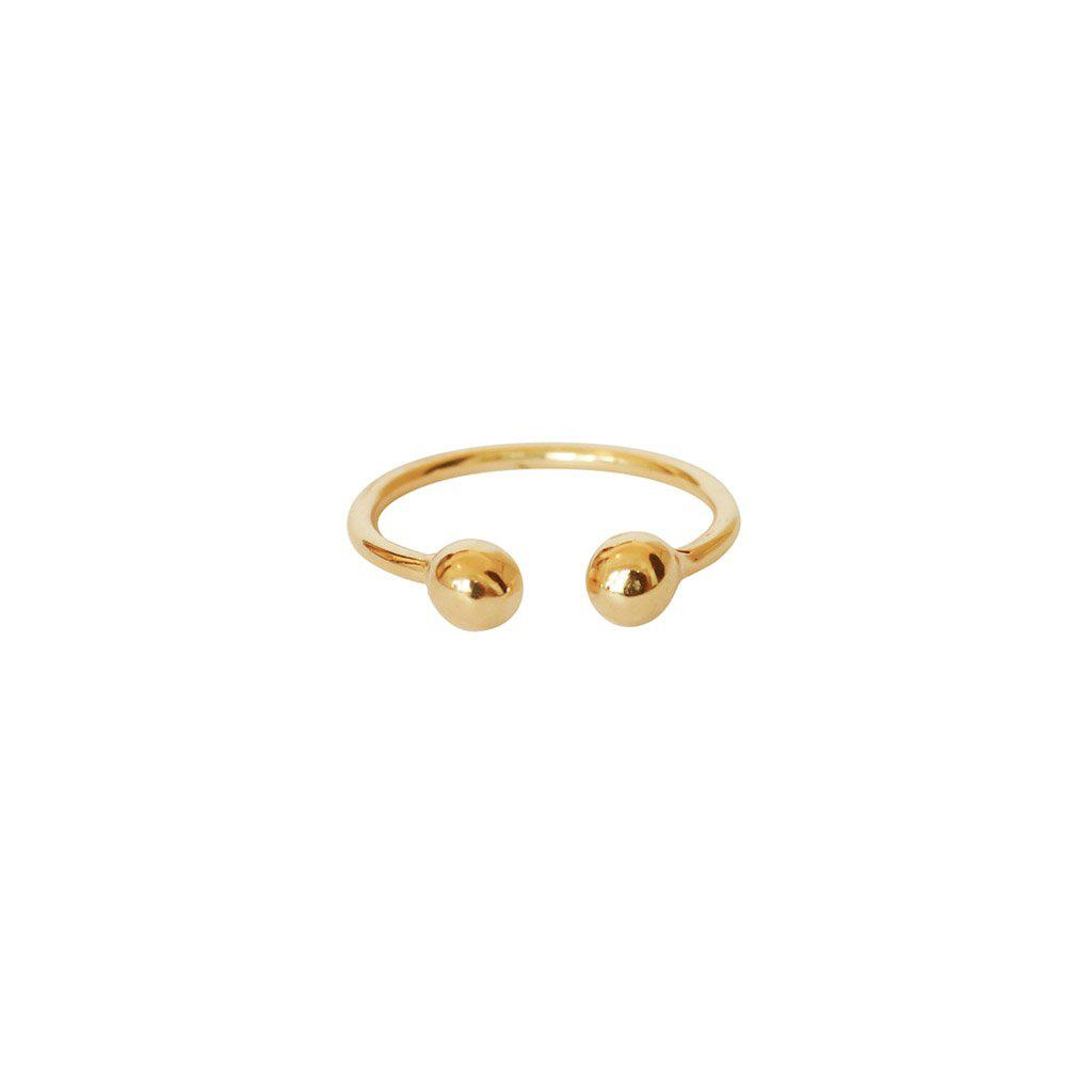 KIPPA 2 MICRON GOLD PLATED RING