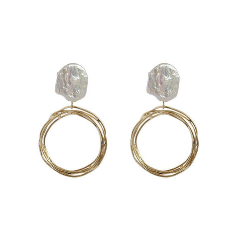KURA FRESHWATER PEARL GOLD EARRINGS
