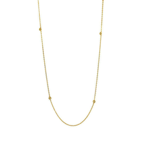 KILEY EYELET CRYSTAL NECKLACE GOLD