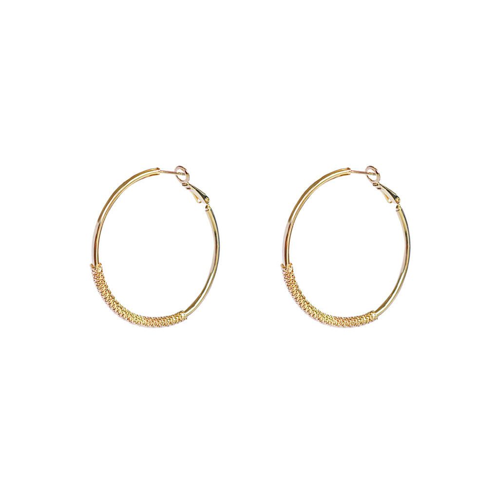 LENNOX TEXTURED GOLD HOOPS