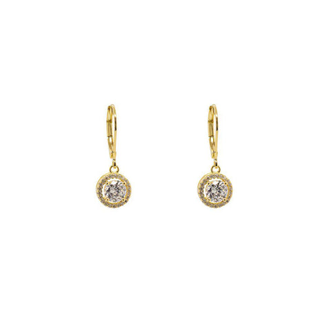 LEN 2 MICRON GOLD CRYSTAL EARRINGS