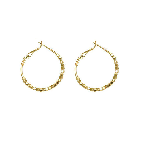 LIOR 2MICRON GOLD PLATED HOOPS EARRINGS