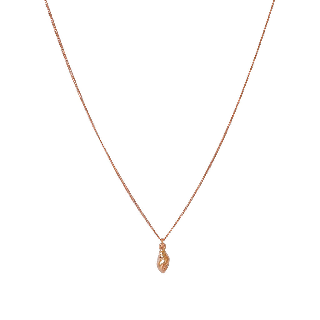 LUELLA SHELL 2 MICRON GOLD ROSE GOLD PENDANT