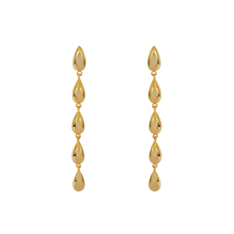 LUNA DROP GOLD EARRINGS