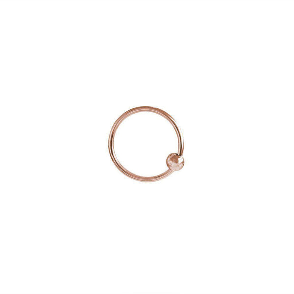 LYLA PLAIN ROSE GOLD BEAD HELIX SLEEPER EARRING