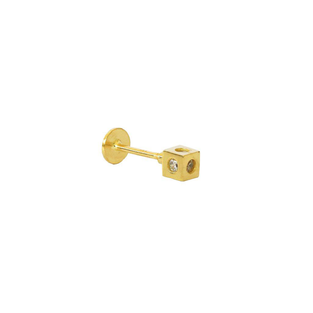LABRET - 14K GOLD DICE