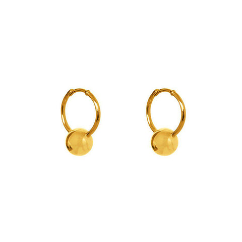 LIANI GOLD HOOPS EARRINGS