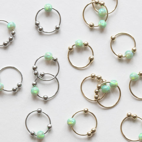 SAMMY MINT OPALITE SLEEPER EARRING
