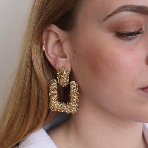 LORETTA ANTIQUE GOLD EARRINGS