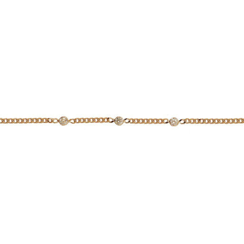 MAILA THICK 2 MICRON GOLD CRYSTAL BRACELET