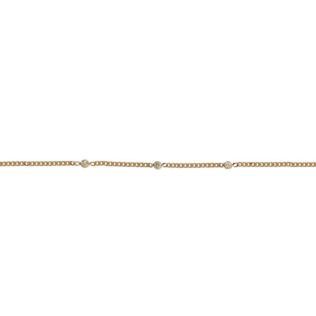 MAILA THIN 2 MICRON GOLD CRYSTAL BRACELET