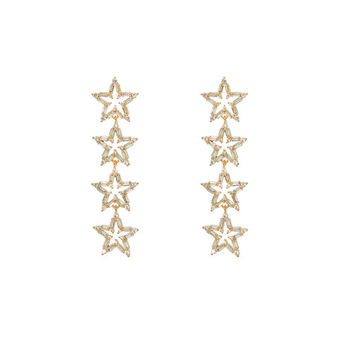 MARLEY GOLD CRYSTAL DROP EARRINGS
