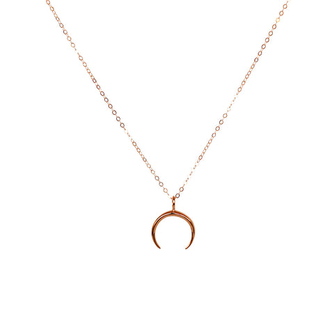 MAYNE CRESCENT 1 MICRON ROSE GOLD PLATED NECKLACE