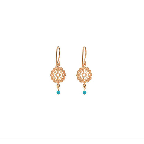 MIRANDA TURQUOISE BEAD EARRINGS