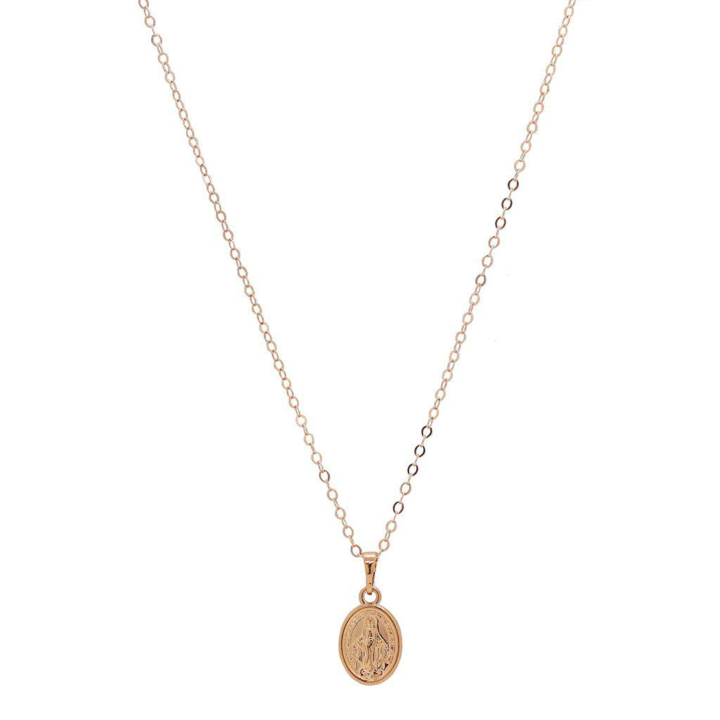 MARY MEDALLION ROSE GOLD FILLED PENDANT